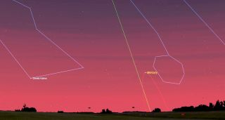 Mercury will reach its widest separation east of the Sun on February 26.