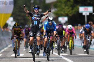 Lorena Wiebes (Team DSM) and Emma Norsgaard (Movistar) at the Giro d'Italia Donne