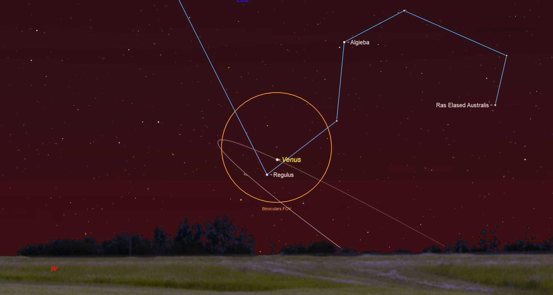 9078b452b790 See Venus Rendezvous with the Moon and Regulus This Week