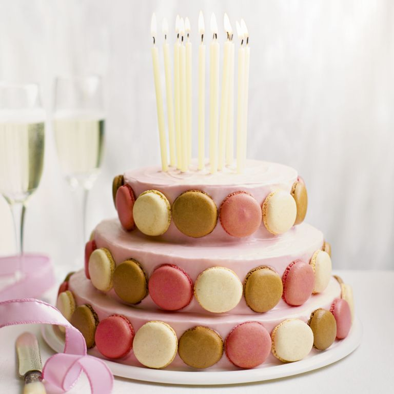 celebration cake - special ckae - wow cake - macaroons - woman and home