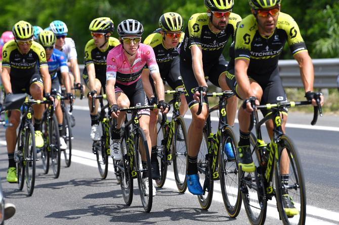 Simon Yates and his Mitchelton-Scott teammates during stage 12 at the Giro d'Italia