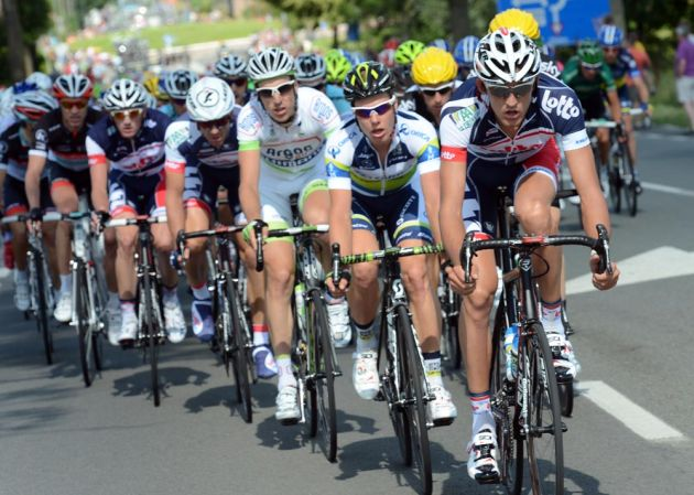 Lotto-Belisol chase, Tour de France 2012, stage two