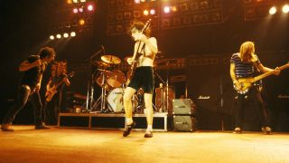 AC/DC onstage in London back in 1980