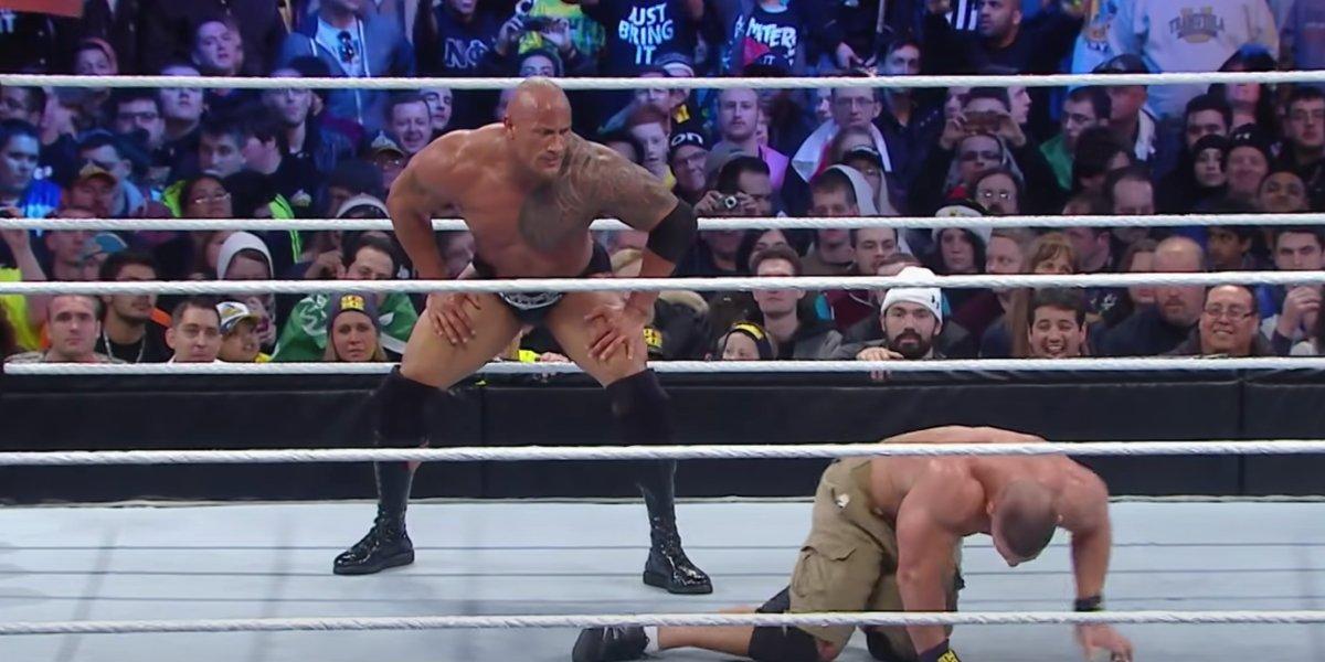 John Cena and The Rock at WrestleMania 29
