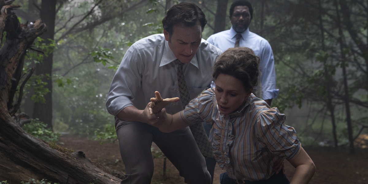 Patrick Wilson and Vera Farmiga as Ed and Lorraine Warren in The Conjuring The Devil Made Me Do It