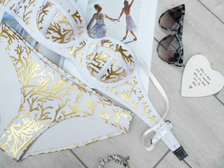 Gold Foil Bikini from Etsy