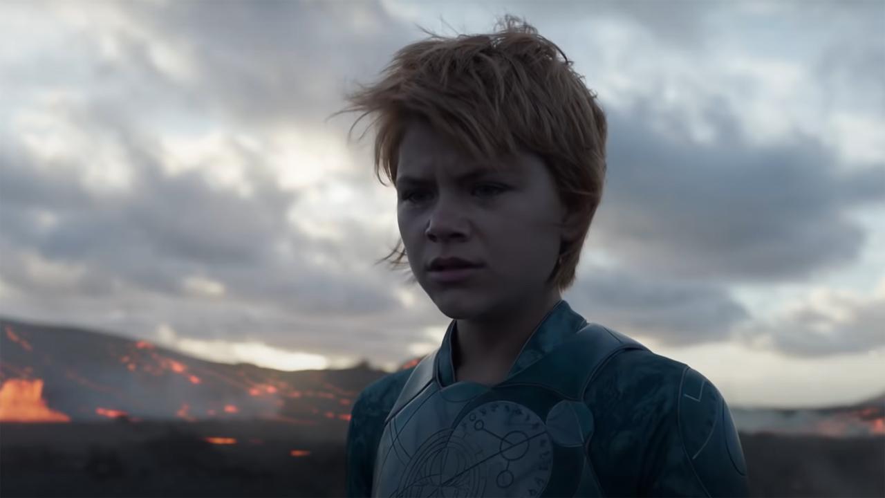 Lia McHugh as Sprite looking concerned in Marvel's Eternals