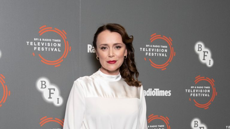 "LONDON, ENGLAND - APRIL 12: Keeley Hawes attends the ""Summer Of Rockets"" preview during the BFI & Radio Times Television Festival 2019 at BFI Southbank on April 12, 2019 in London, England"