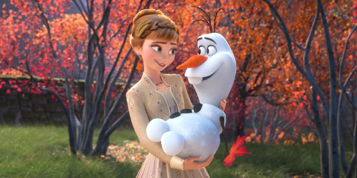 Kristen Bell and and Josh Gad as Anna and Olaf in Frozen II