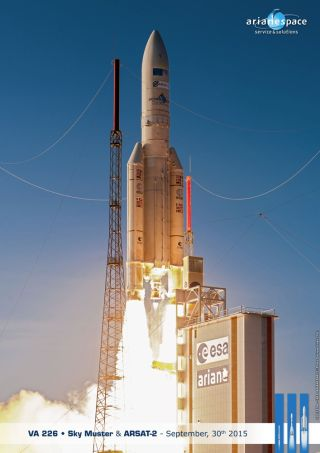 Ariane 5 Launches Sky Muster and ARSAT-2