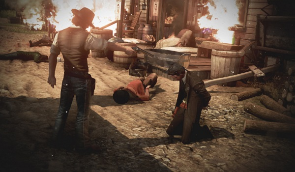 A cowboy shoots down bandits in Wild West Online