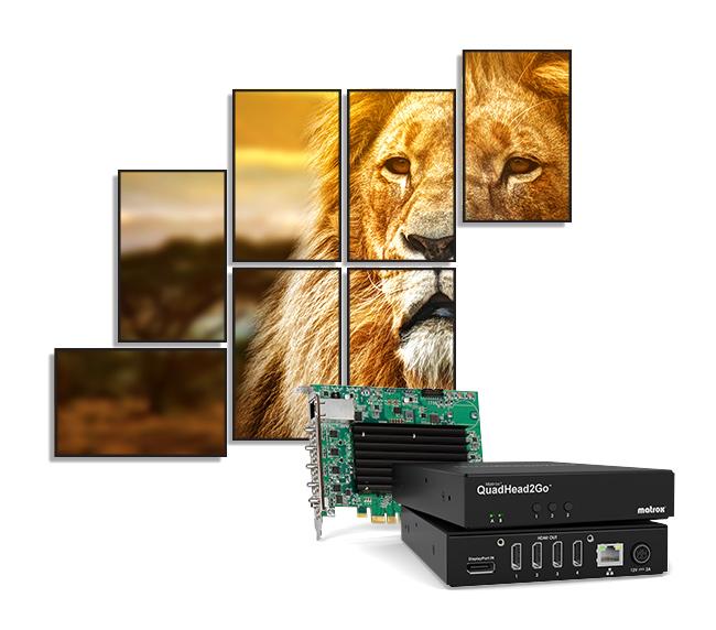 Matrox Unveils QuadHead2Go Multi-Monitor Controllers for Next-Gen