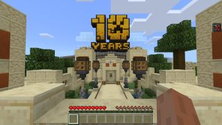 Minecraft's anniversary map is a huge interactive museum