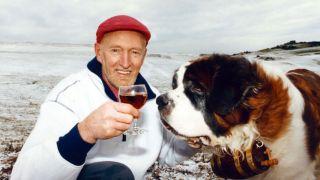 Hamish Macinnes and Hamilton the St Bernard dog. Circa 1992