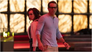 Ryan Reynolds and Jodie Comer in Free Guy