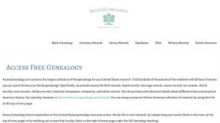 Access Genealogy review