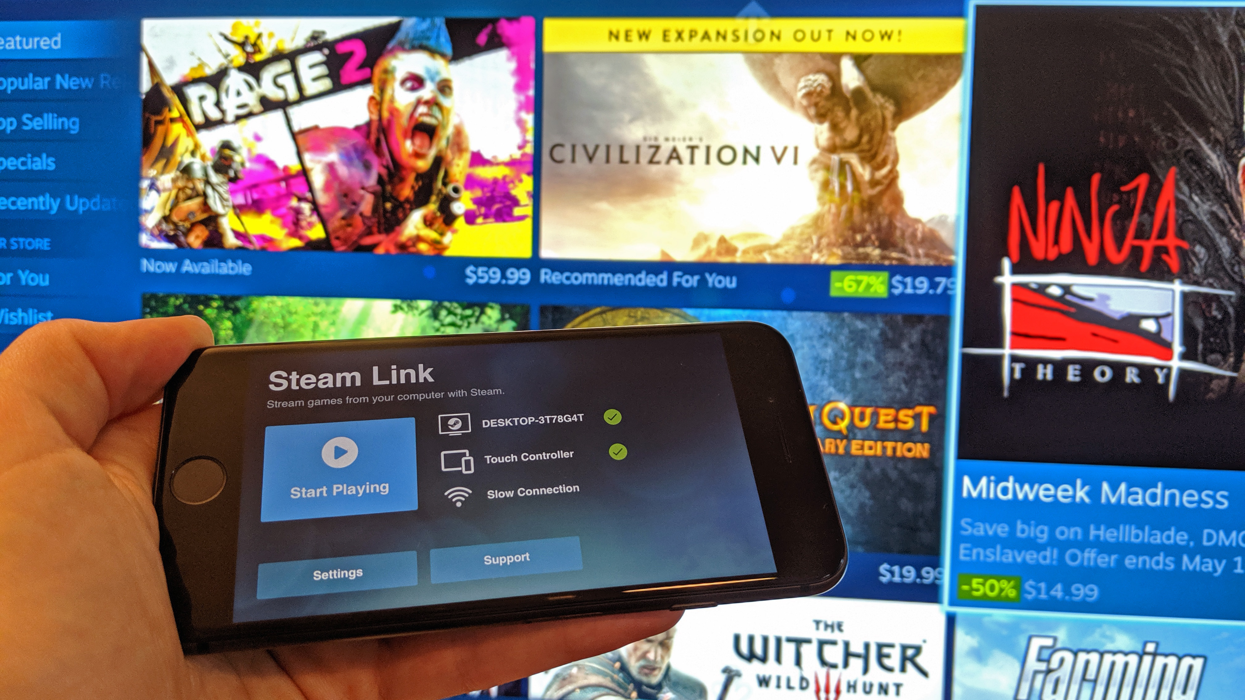 Steam Link is now available for iOS, a year after its