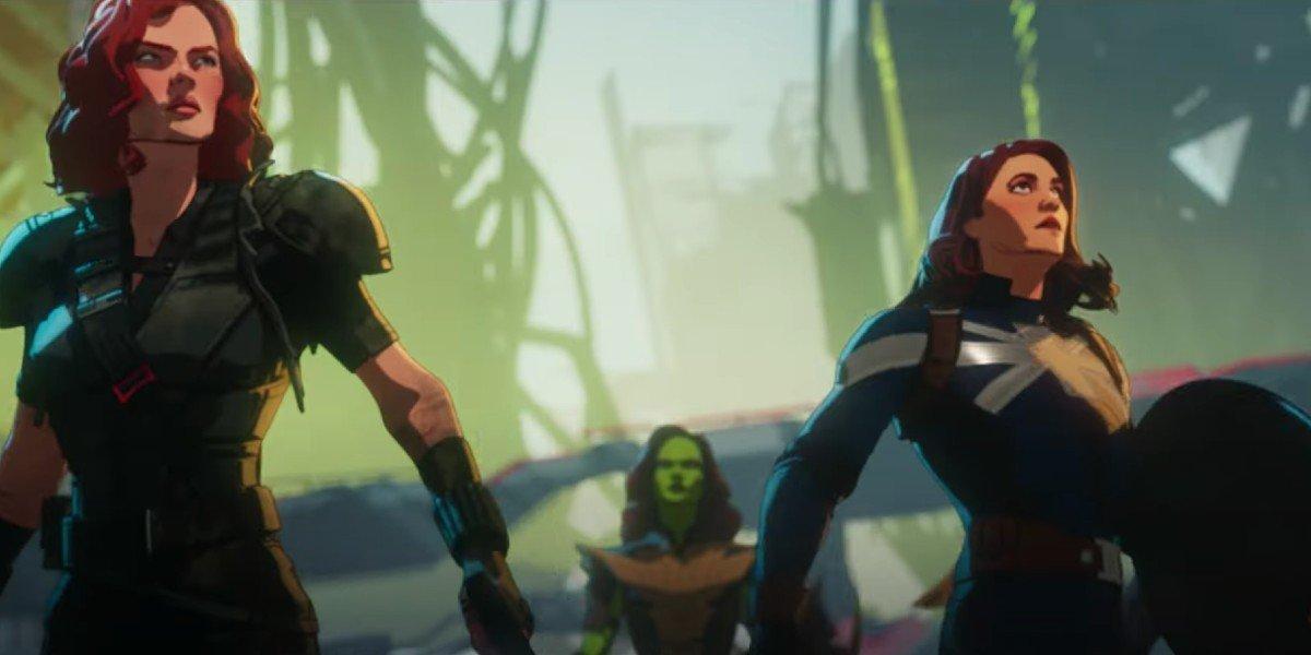 Black Widow, Gamora and Peggy Carter