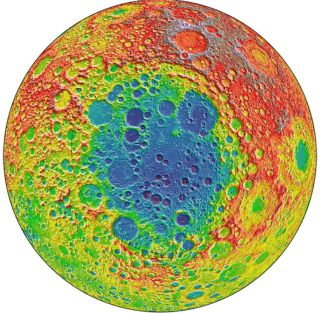 This image from NASA's Lunar Reconnaissance Orbiter centers on the South Pole-Aitken basin, the largest impact basin on the moon, and one of the largest impact basins in the solar system.