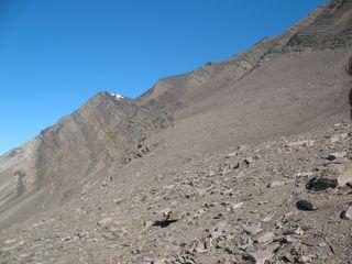 Bravaisberget mountain in southern Spitsbergen