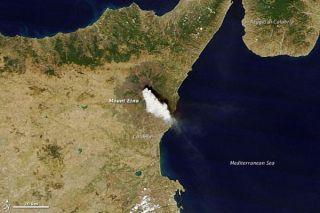 Mount Etna's violent burst
