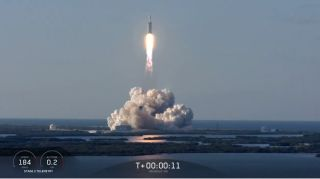 SpaceX Falcon Heavy Sticks Triple Rocket Landing with 1st Commercial Launch