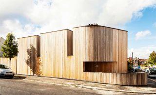 Cedar-clad urban self build on a corner plot
