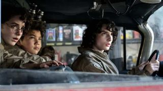 young ghostbusters in 2021's Ghostbusters: Afterlife