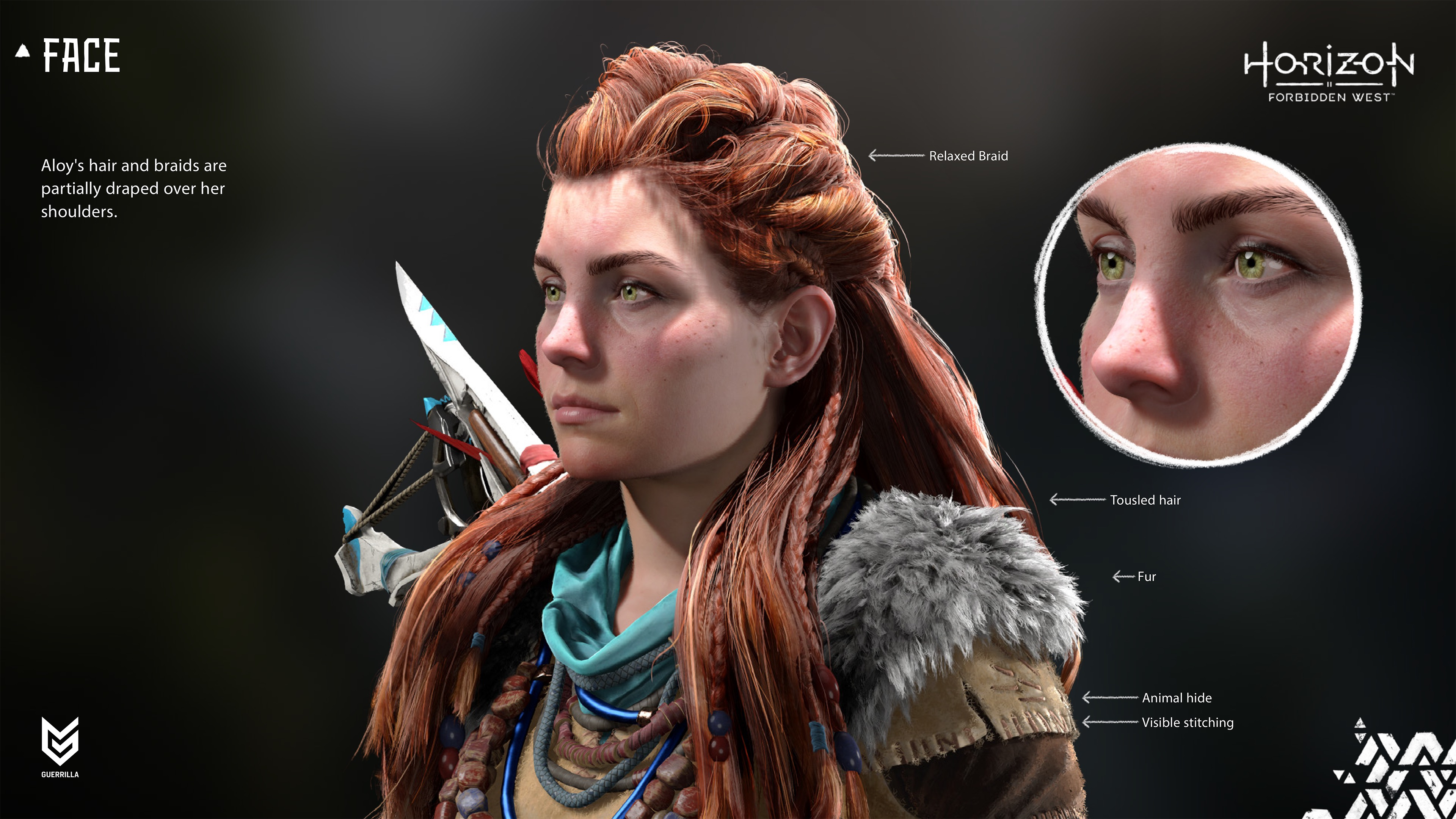 Horizon Forbidden West graphical showcase featuring protagonist Aloy