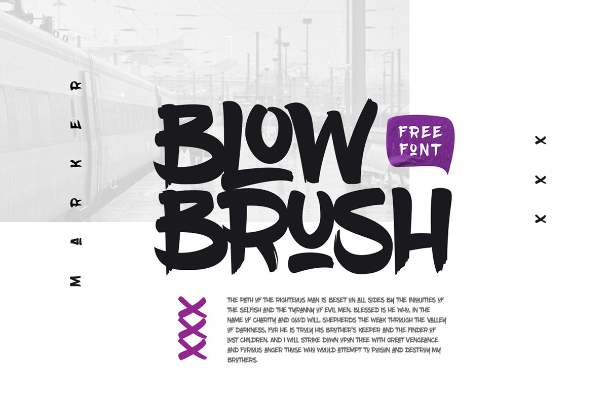 Best free fonts: Blow Brush