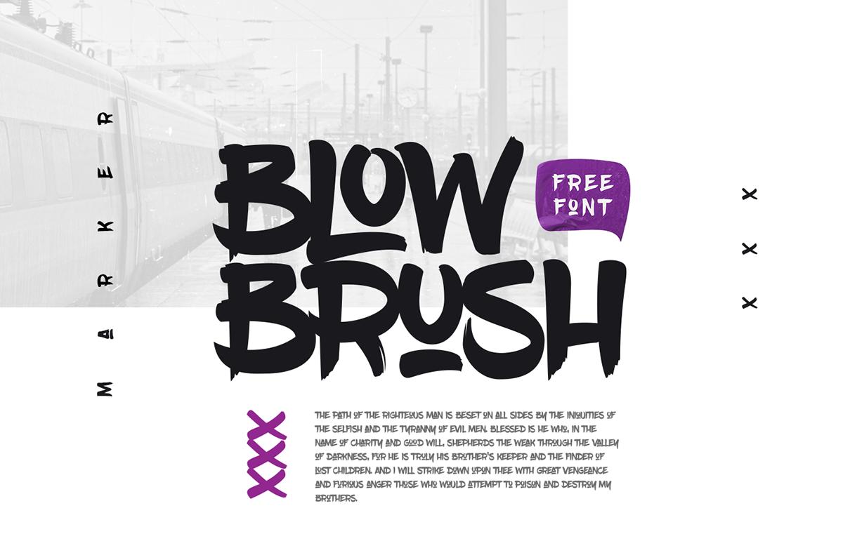 Best free fonts: Blow Brush