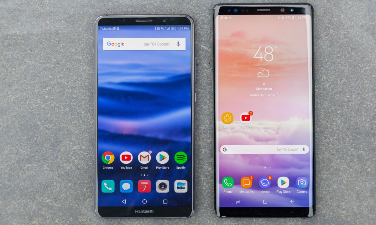 Huawei Mate 10 Pro vs  Galaxy Note 8: Battle of the Android Giants