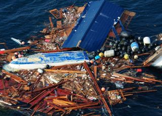 Debris from Japanese Tsunami