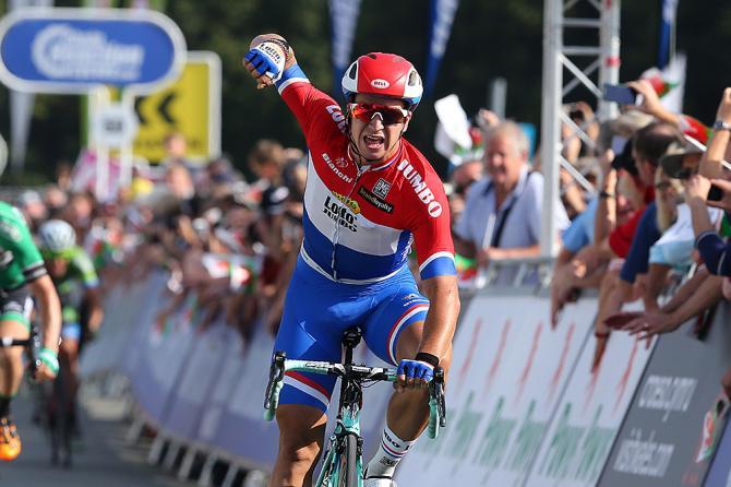 Dylan Groenewegen (LottoNL-Jumbo) won stage 4 of the Tour of Britain