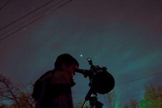 Night sky watcher Wes Lanpher