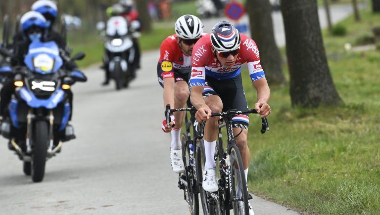 Mathieu van der Poel in the 2021 Tour of Flanders