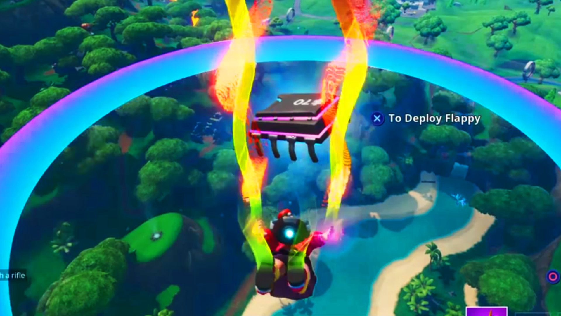 Fortnite Fortbytes 70 - Accessible by skydiving through the