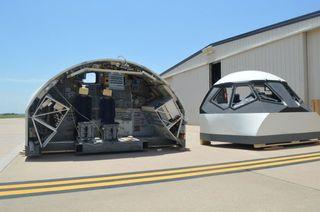 NASA's space shuttle fixed-base simulator