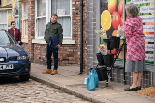 Tyrone Dobbs has a makeover in Coronation Street and Evelyn isn't impressed.