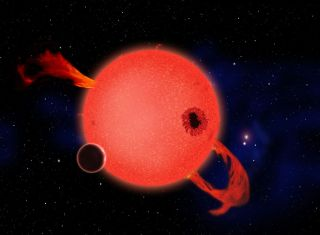 Red Dwarf Star Erupts With Ultraviolet Radiation
