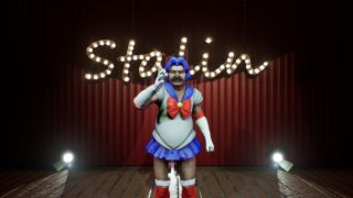 Stalin in a Sailor Moon costume.