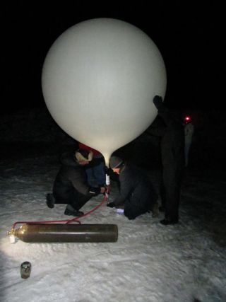 Weather Balloon Inflation