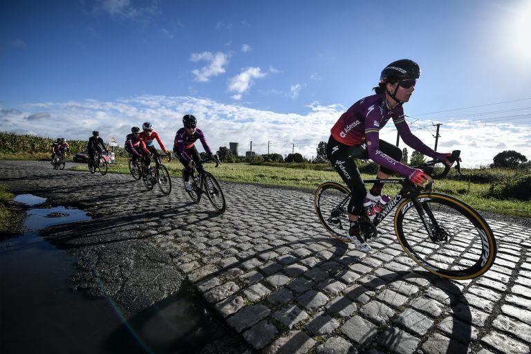 SD Workx at the women's Paris-Roubaix recon