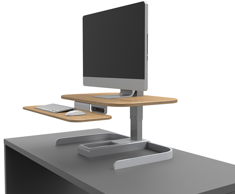 standing desk on top of regular desk NextDesk CrossOver Turns Your Tabletop into a Powered Standing  standing desk on top of regular desk