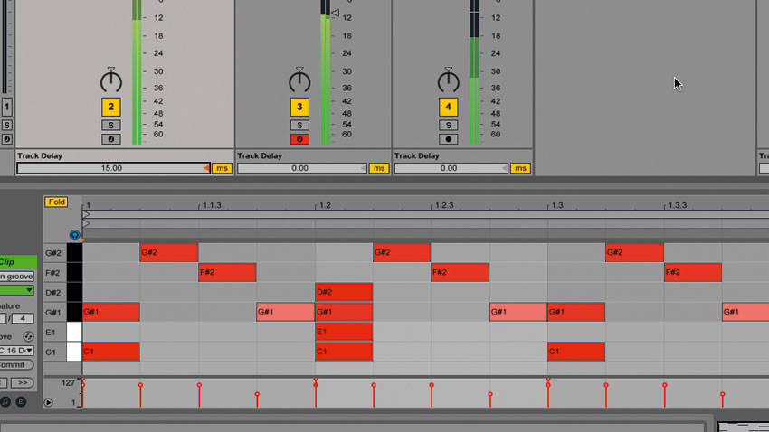 How to push or pull drum tracks to increase or reduce urgency