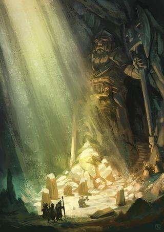 How to paint a gloomy underground scene