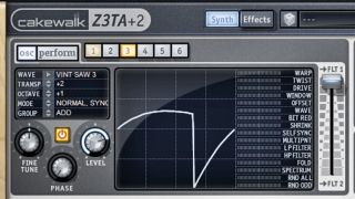 We're going to be using Cakewalk's classic Z3TA+ 2 synth.