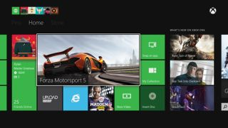 Xbox One dashboard home screen