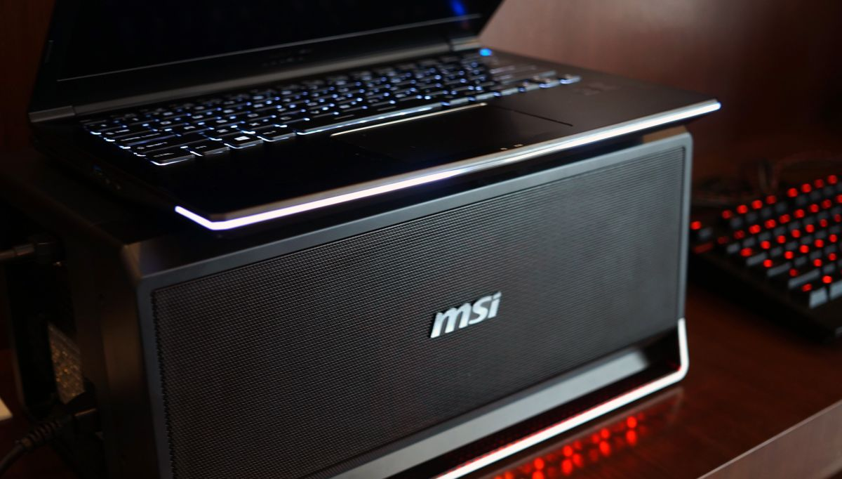msi and alienware external graphics enclosures at ces