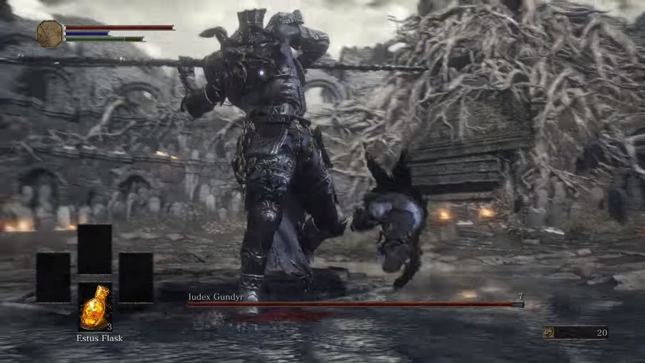 Watch someone punch Dark Souls 3's first boss to death